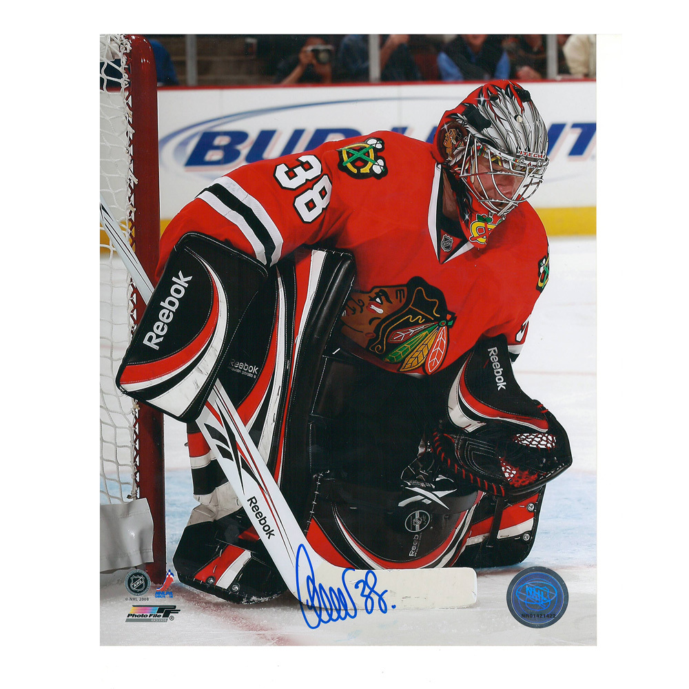 CRISTOBAL HUET Signed Chicago Blackhawks 8 X 10 Photo - 70346