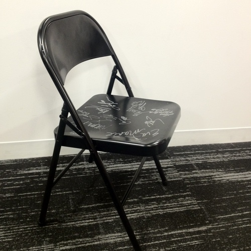 SIGNED Chair from Divas Musical Chairs (#RAWCountry 11/18/13)
