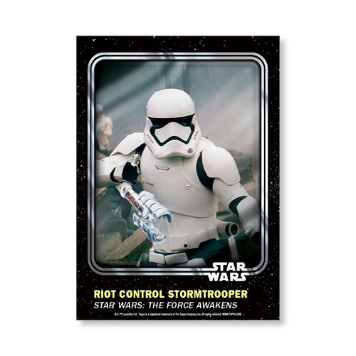 Riot Control Stormtrooper 2016 Star Wars Card Trader Base Poster - # to 99