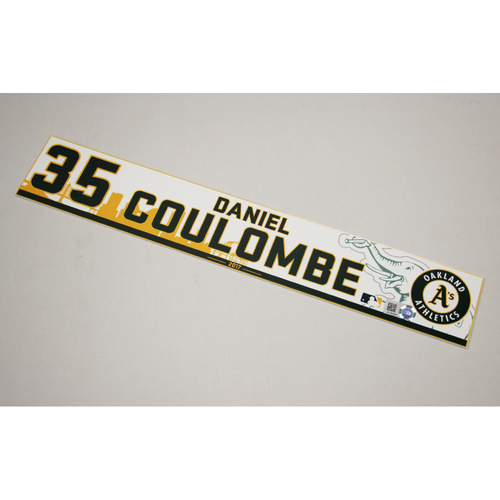 Daniel Coulombe 2017 Home Clubhouse Locker Nameplate