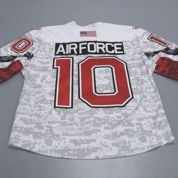 "Photo of Ohio State Ice Hockey Military Appreciation Jersey #10 ""Air Force"" / Size 54"