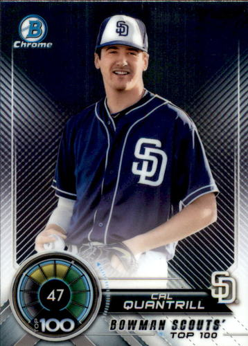 Photo of 2018 Bowman Chrome Scouts Top 100 #BTP47 Cal Quantrill