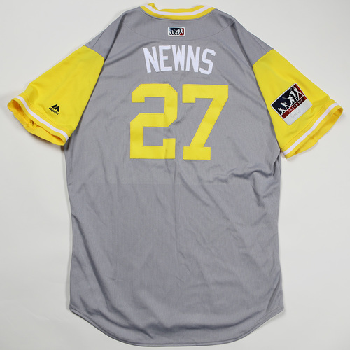 "Photo of Kevin ""Newns"" Newman Pittsburgh Pirates Game-Used Jersey 2018 Players' Weekend Jersey"