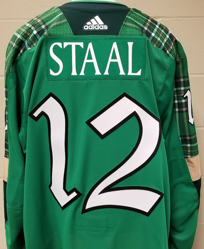 Eric Staal Minnesota Wild 2019 St. Patty's Day Warm-Up Jersey