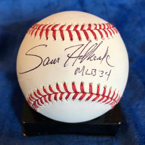 Photo of UMPS CARE AUCTION: Sam Holbrook Signed Baseball