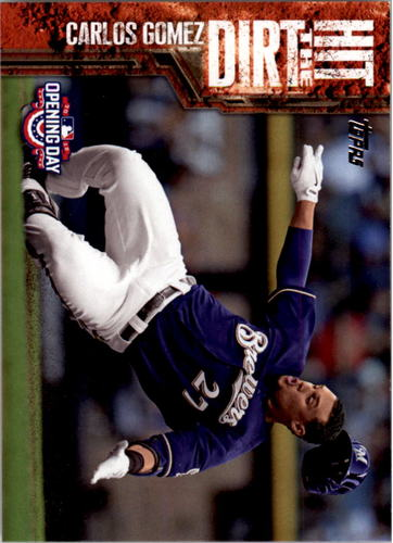 Photo of 2015 Topps Opening Day Hit the Dirt #HTD08 Carlos Gomez