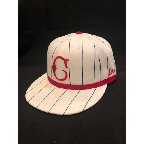 Photo of Joey Votto -- Game-Used Cap -- 1919 Throwback Game -- Nationals vs. Reds on June 2, 2019 -- Size 7 3/8