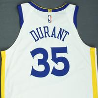 Kevin Durant - Golden State Warriors - 2018-19 NBA Season - Game-Worn Association Edition Jersey