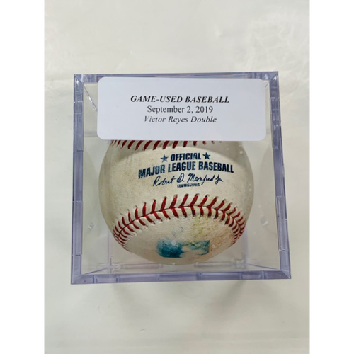 Photo of Game-Used Baseball: Victor Reyes Double