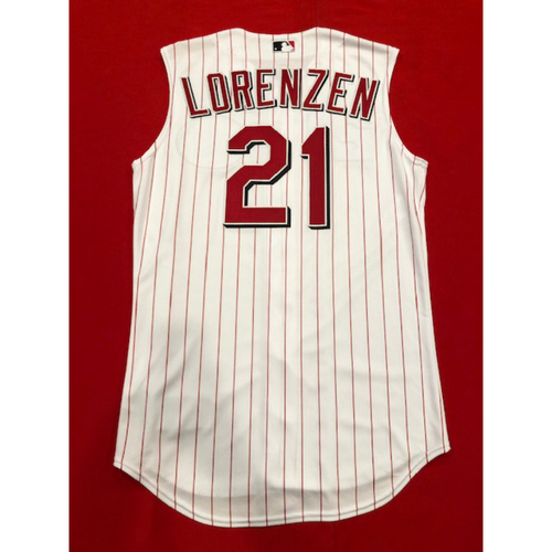 Photo of Michael Lorenzen -- Team-Issued 1999 Throwback Jersey -- Mets vs. Reds on Sept. 22, 2019 -- Jersey Size 42