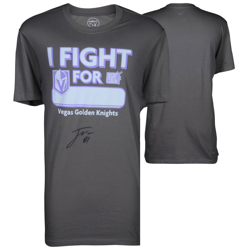 Jonathan Marchessault Vegas Golden Knights Autographed Hockey Fights Cancer T-Shirt
