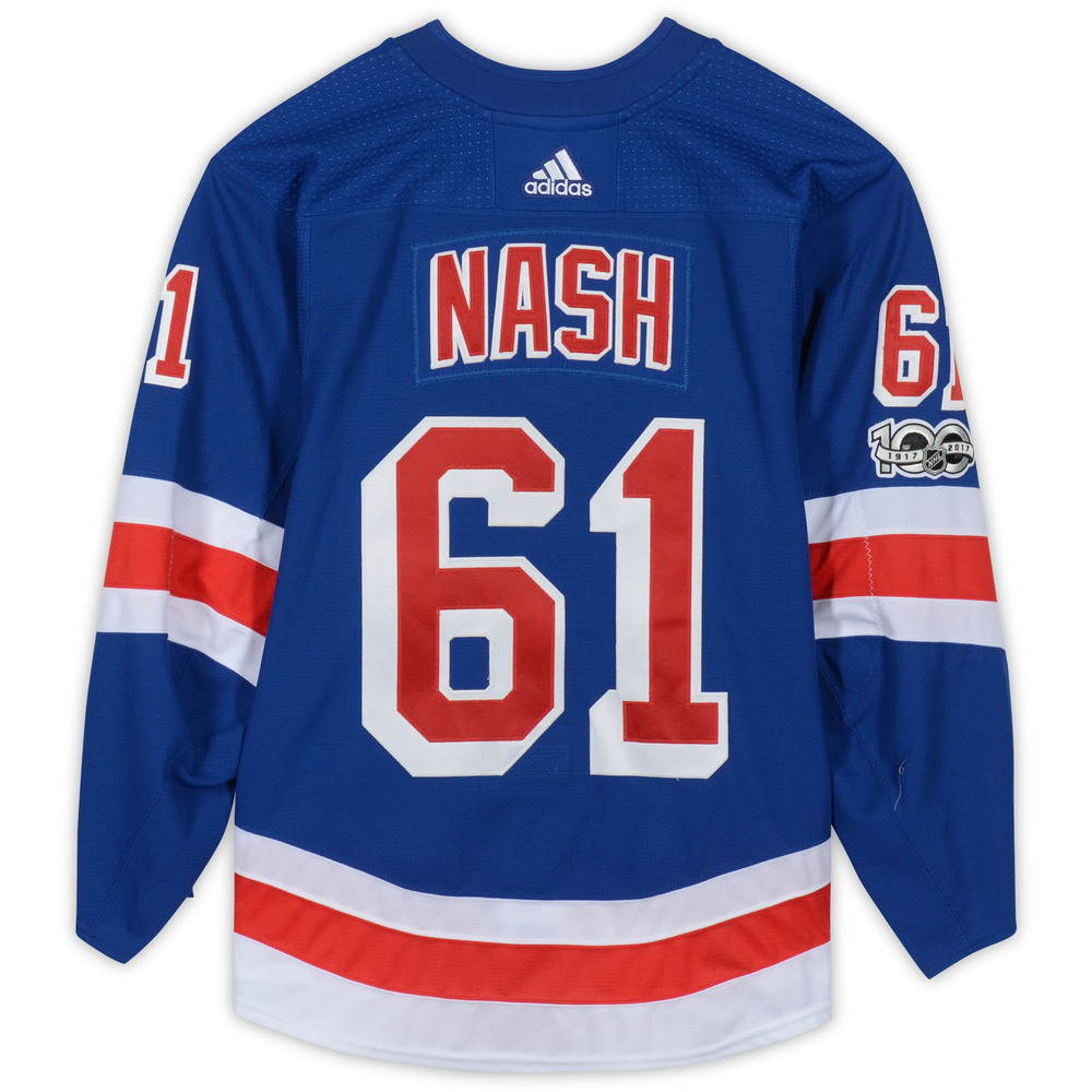 Rick Nash New York Rangers Game-Used #61 Blue Jersey with