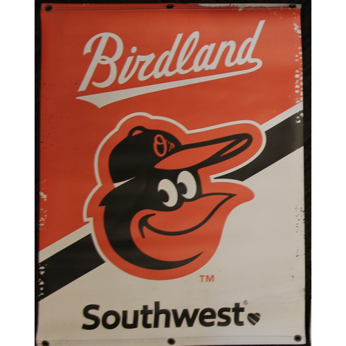 Photo of Cartoon Bird Street Banner from the 2019 Season
