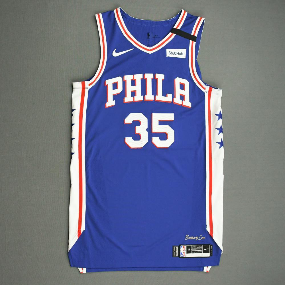 Marial Shayok - Philadelphia 76ers - Game-Worn Icon Edition Jersey - Dressed, Did Not Play (DNP) - 2019-20 NBA Season Restart