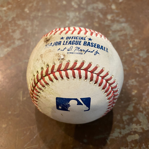 Photo of 2020 Game Used Baseball - Joey Bart's Career RBI #5 and Career Hit #17 - 9/9/20 vs SEA - Bottom 5th: Lockett to Bart - Single to Kyle Lewis in CF (Brandon Belt Scores)