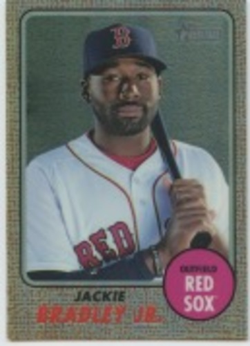 Photo of 2017 Topps Heritage Chrome Refractors #THC462 Jackie Bradley Jr.