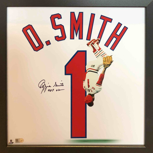 Photo of Cardinals Authentics: Ozzie Smith Autographed 14*14 Uniframe