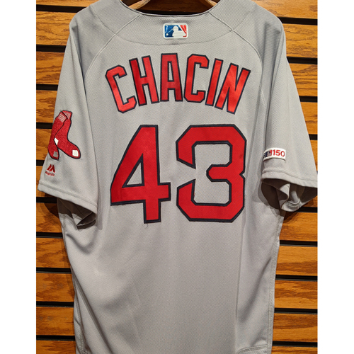 Photo of Jhoulys Chacin #43 Team Issued Road Gray Jersey