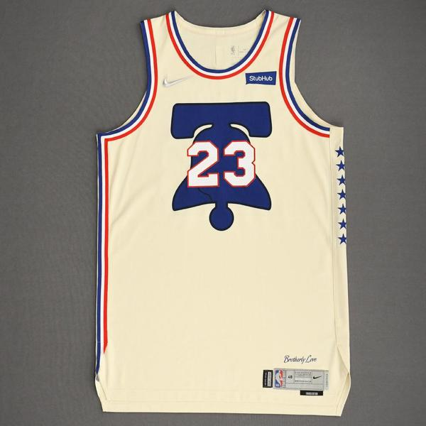 Image of Terrance Ferguson - Philadelphia 76ers - Game-Worn Earned Edition Jersey - 2020-21 NBA Season