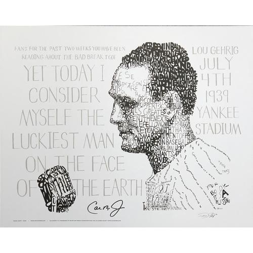 Photo of Art of Words Lou Gehrig Prints signed by Cal Ripken Jr
