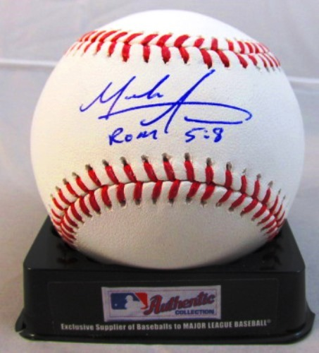 "Photo of Mark Appel Autographed Baseball ""ROM 5:8"""