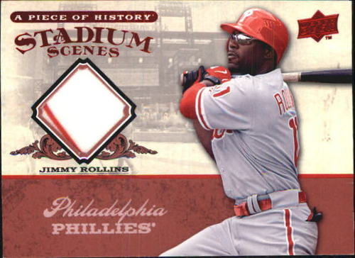 Photo of 2008 UD A Piece of History Stadium Scenes Jersey Red #SS44 Jimmy Rollins