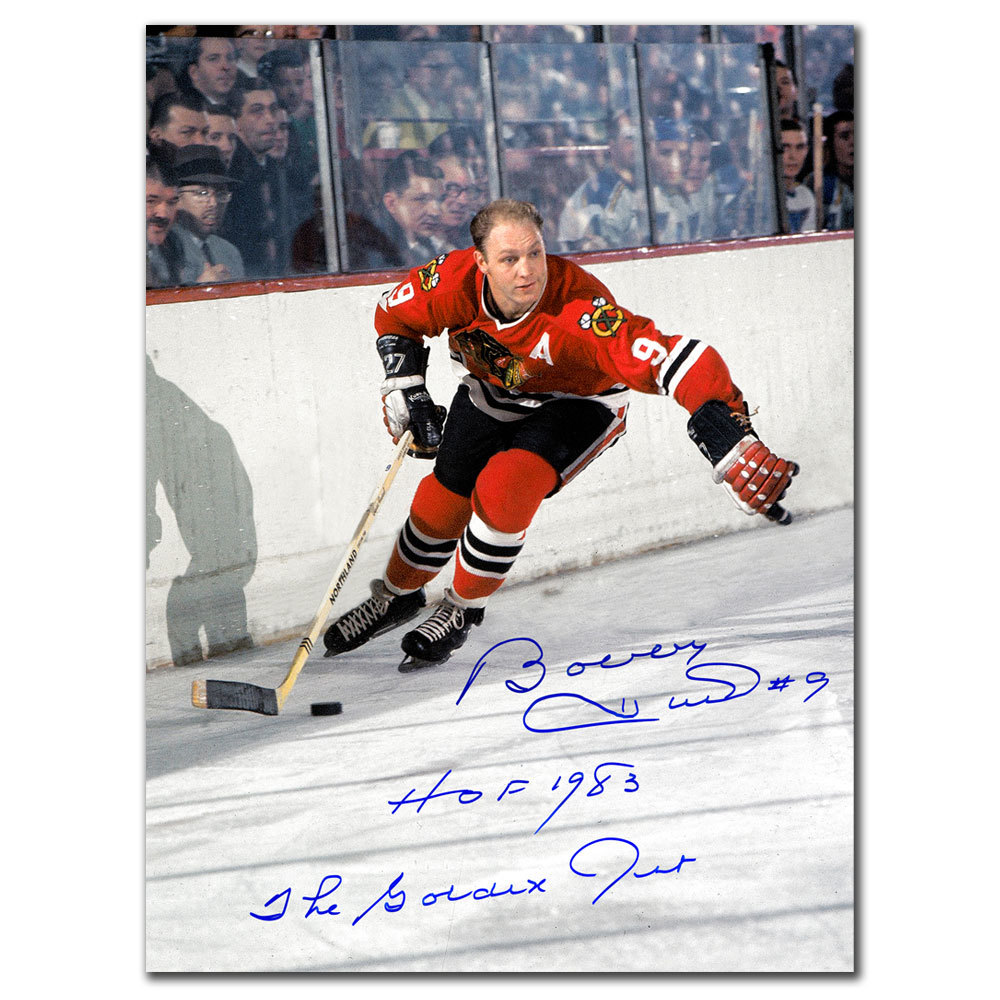 Bobby Hull Chicago Blackhawks HOF GOLDEN JET Autographed 16X20
