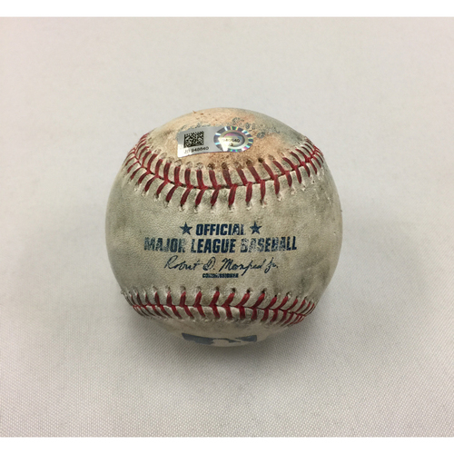 Photo of Tigers at Red Sox June 11, 2017 Game-Used Ball