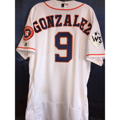 2017 World Series Game 3 - Marwin Gonzalez Game-Used Home Jersey