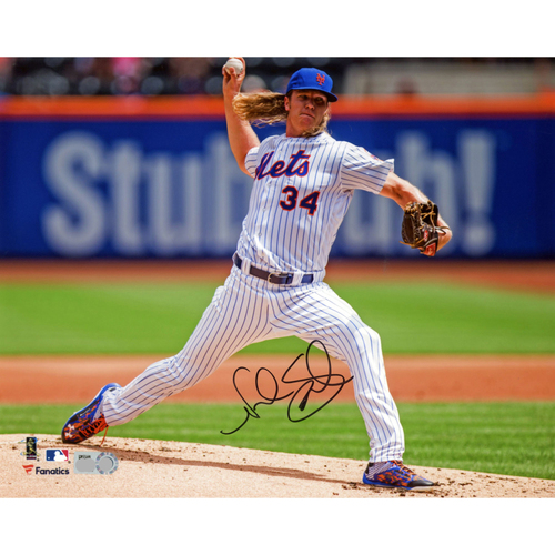 """Photo of Noah Syndergaard New York Mets Autographed 8"""" x 10"""" Facing Right Photograph"""