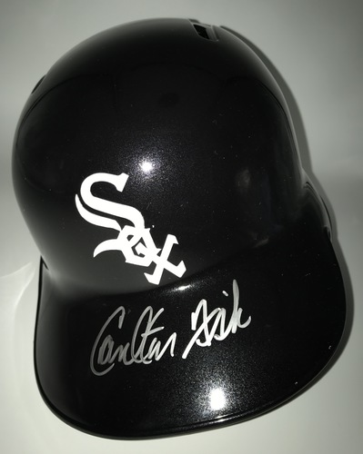 Carlton Fisk Autographed Full-Size White Sox Batting Helmet
