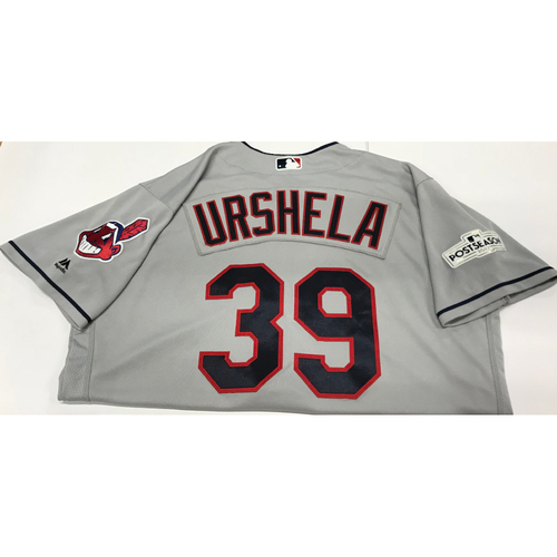Photo of Giovanny Urshela Team-Issued 2017 Postseason Road Jersey