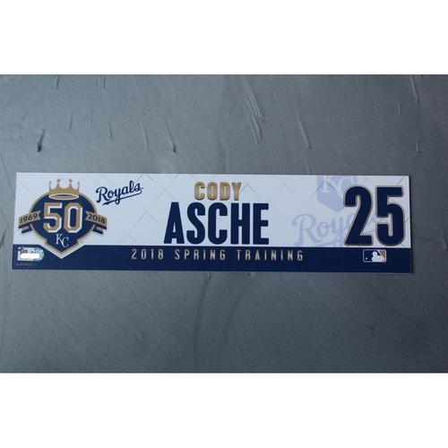 Photo of Spring Training Locker Nameplate: Cody Asche
