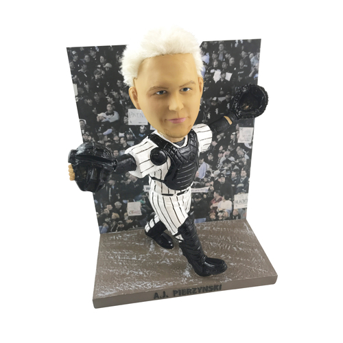 Photo of Limited-Edition AJ Pierzynski Blackout Game Bobblehead - Orders placed on or after December 18 will be shipped on January 3, 2019