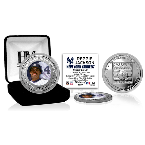 Photo of Reggie Jackson Baseball Hall of Fame Silver Color Coin