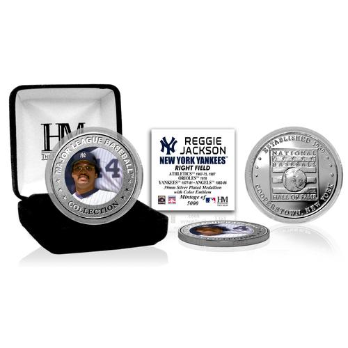 Photo of Reggie Jackson Baseball Hall of Fame Silver Color Coin