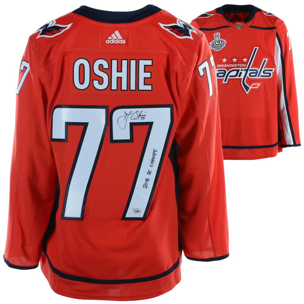 save off 64121 d378a T.J. Oshie Washington Capitals 2018 Stanley Cup Champions ...