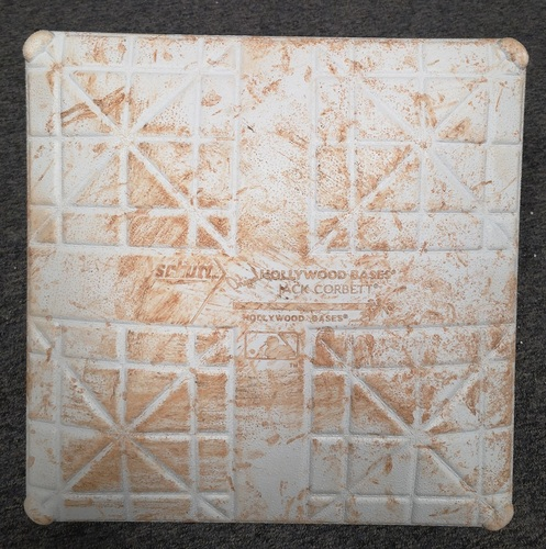 Photo of Authenticated Game Used Base: 2nd Base for Innings 1 to 3 (Aug 30 - Sep 1, 19 vs HOU): In place for Justin Verlander's 3rd Career No Hitter