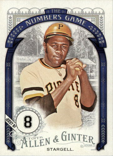 Photo of 2016 Topps Allen and Ginter The Numbers Game #NG12 Willie Stargell
