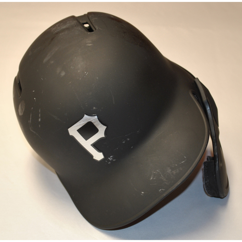 "Photo of Trevor ""PROJECT"" Williams Pittsburgh Pirates Game-Used 2019 Players' Weekend Helmet"