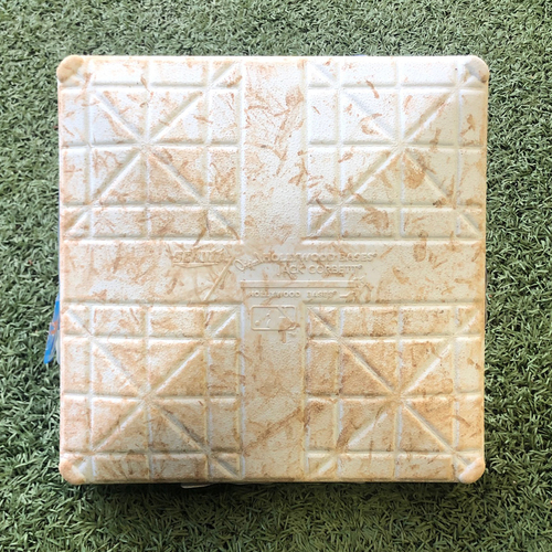 Photo of Game-Used Base - J.D. Davis HR in the 1st, Frazier Double in the 2nd - 2nd Base - Innings 1-3 - Final Game of the 2019 Season - Mets vs. Braves - 9/29/19