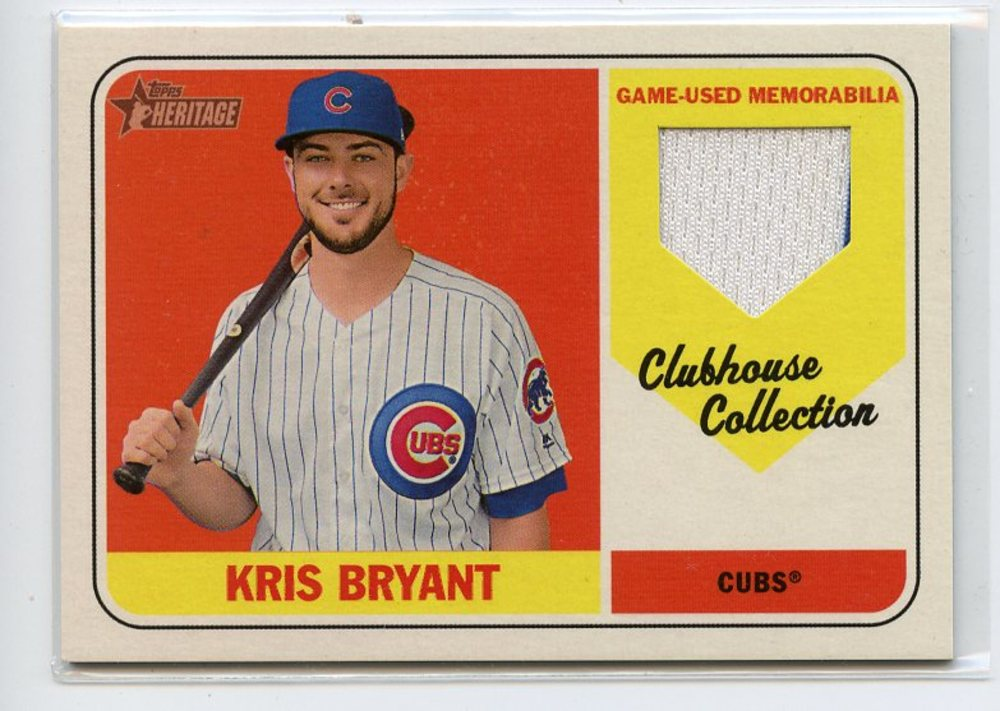 2018 Topps Heritage Clubhouse Collection Relics #CCRKB Kris Bryant HN