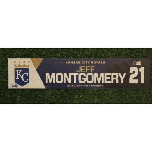 Game-Used Spring Training Locker Tag: Jeff Montgomery #21