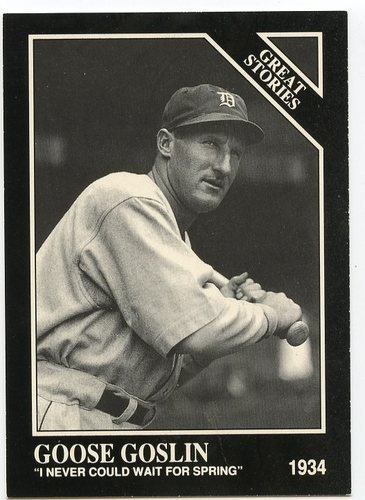 Photo of 1991-92 Conlon TSN Prototypes #520 Goose Goslin/Prototype on back