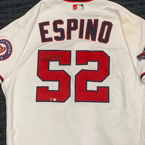 Photo of Washington Nationals Philanthropies Jerseys Off Their Back Auction - Paolo Espino - Autographed Game-Used Jersey - Size 46