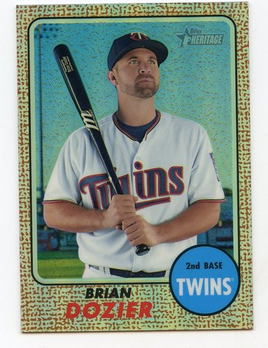 Photo of 2017 Topps Heritage Chrome Refractors #THC465 Brian Dozier
