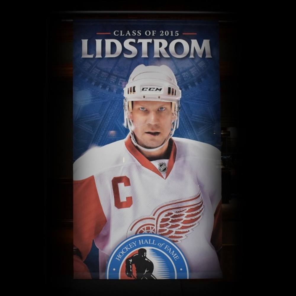 Nicklas Lidstrom Hockey Hall of Fame Class of 2015 Banner (5ft x 9ft) - Limited Edition 1/1