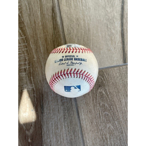 Photo of 8/29/20 Game-Used Baseball, Giants at D-backs: Luke Weaver vs. Brandon Belt (Doubled, Scored Evan Longoria)