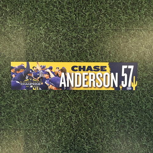 Photo of Chase Anderson 2019 Team-Issued Spring Training Locker Nameplate