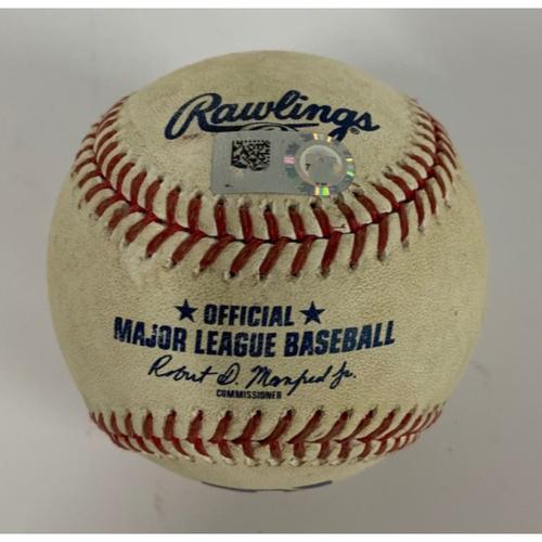 Game-Used Baseball - 8/12/2020 - Cubs at Indians - Sandy Leon Single vs. Kyle Hendricks